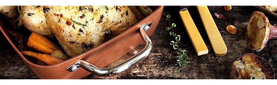 Copper Chef, Cobre, Cobre, 46.99 x 25.4 x 7.62 cm