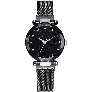 black dial watch
