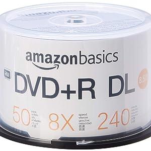 AmazonBasics 8.5GB 8X DVD+R DL Spindle