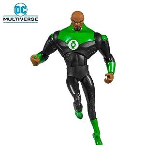 DC McFarlane LOT x3 Animated Batman Green Lantern Superman Action Figure Set
