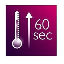 Plancha para el pelo: calentamiento rápido, lista para usar en 60 segundos