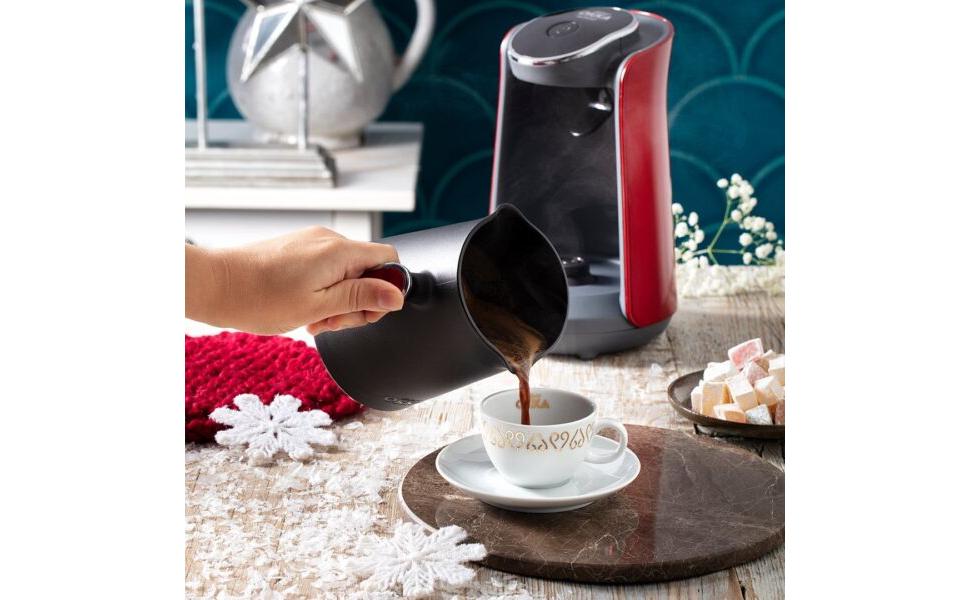 Arzum Okka OK004 Minio Turkish Coffee Maker - Red & Black