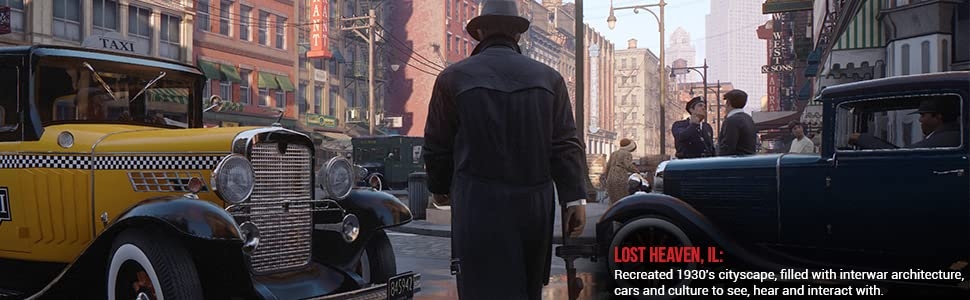 old taxi cab man in fedora and trench coat facing away from camera
