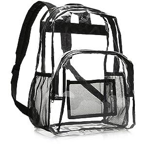 dd54651d2f93 Amazon.com  AmazonBasics School Backpack - Clear