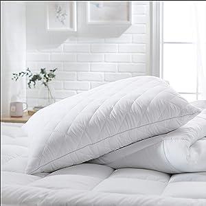 AmazonBasics Customizable Down-Alternative Pillows