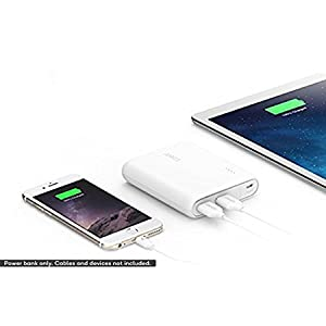 Anker 13000 mAh Power Bank for Smart Phones, White, A1215H21