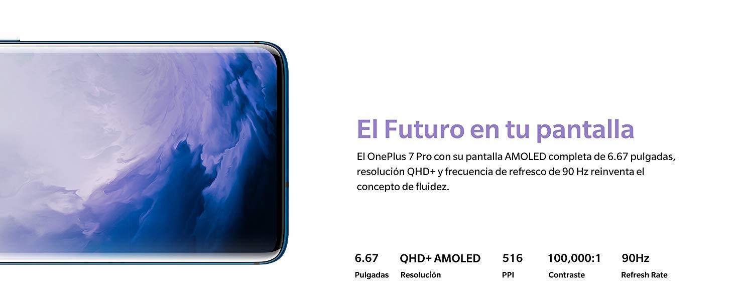 OnePlus 7 Pro - Smartphone, 12GB+256GB EU GM1913, Azul (Nebula ...