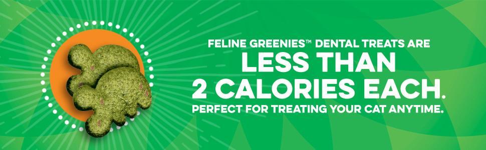 Feline Greenies Dental Treats, Less than 2 Calories, Treating, Cat Treats, Greenies for Cats