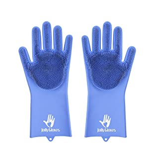 scrubber, gloves with scrubber