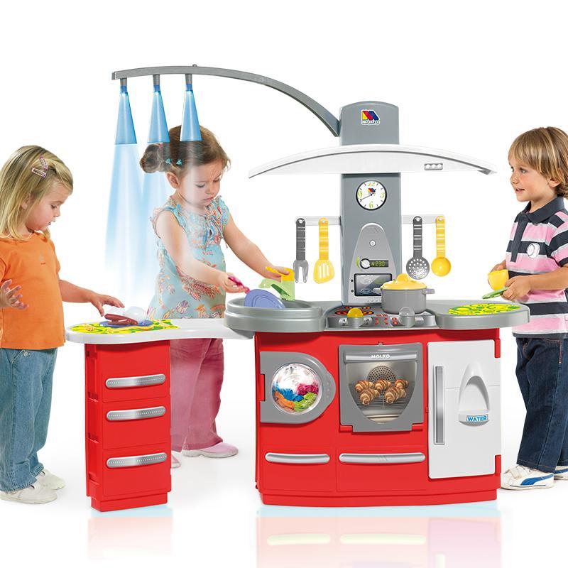 MOLTO Cocina de juguete de tamaño grande con luz (7150): Amazon.es ...