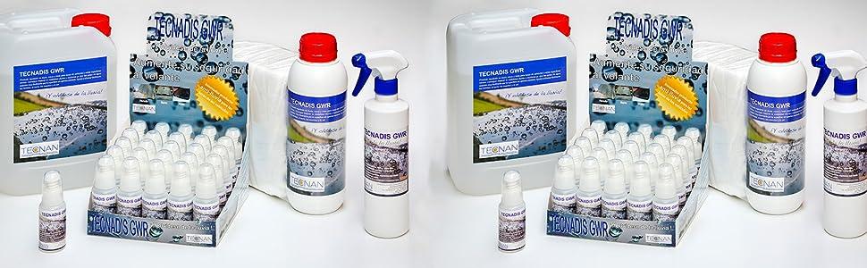 Tecnan 04001 Producto Antilluvia para Lunas de Vehículos: Amazon.es: Coche y moto