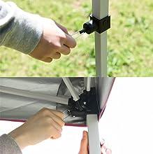 キャンパーズコレクション プロモレジャータープ PLT キャリーケース付 シルバーコーティング 耐水圧 解除がしやすいプルロック式採用