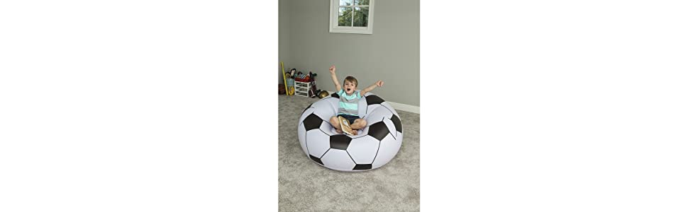 Bestway 75010 - Puff Hinchable Balón Fútbol: Amazon.es: Deportes y ...