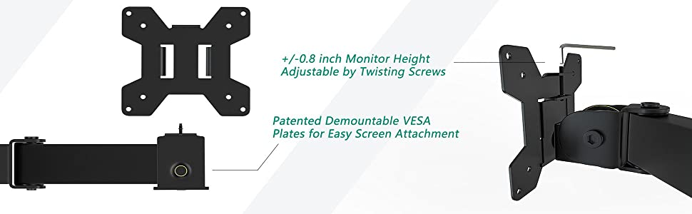 Amazon Com Wali Extra Tall Dual Lcd Monitor Desk Mount