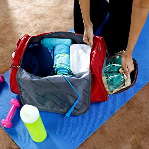 b25d74f842ea Nasher Miles Flanders Polyester 45CM Soft-Sided Gym Duffle Bag Grey ...