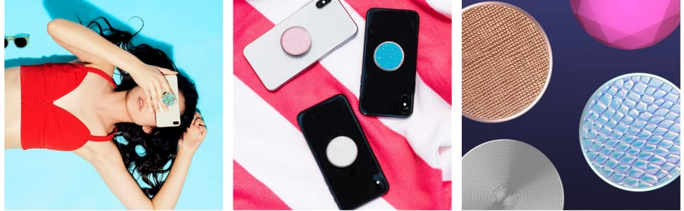 Amazon.com: PopSockets: Collapsible Grip & Stand for Phones and Tablets - Tie Dye Blue: Cell Phones & Accessories