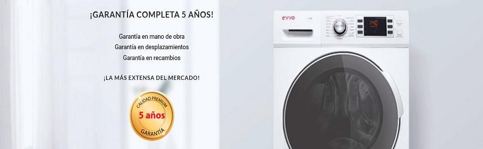 EVVO 3.9 - Modelo 3.9 Lavadora de carga frontal de 9 KG y 1400 RPM [Eficiencia Energética: A+++ (-10)] - Marca Española - 4 años de Garantía - Color ...