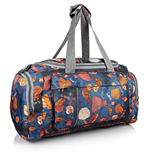 915d96f27bee Suntop Diablo Faux Leather Duffel Bag for Travel Gym Bag with Shoe ...