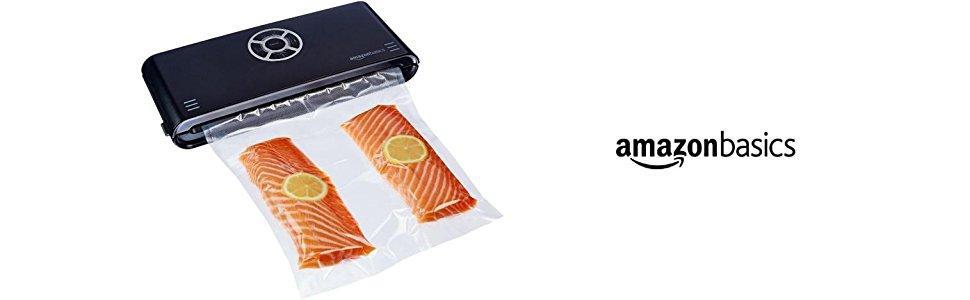 AmazonBasics - Sellador al vacío, 30 cm sellado + 10 bolsas para ...