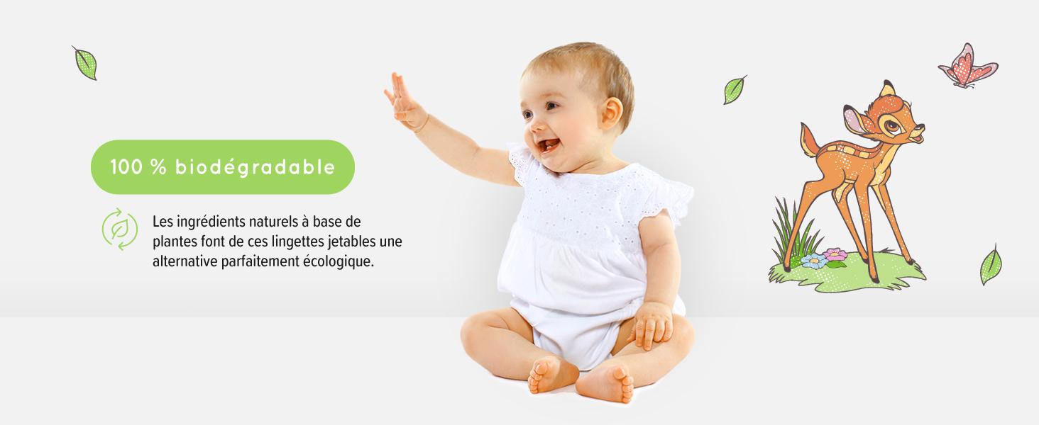 Disney Lingettes biod/égradables pour peaux ultra-sensibles Mama Bear 12x60   720 lingettes