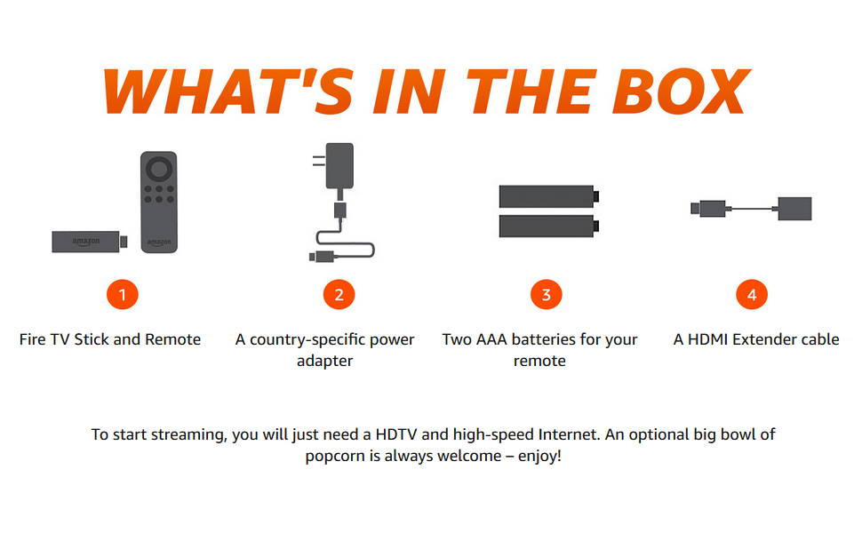 whats in the box fire tv stick