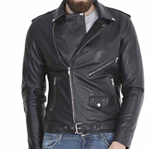 Amazon.com: Chaqueta de piel para hombre de Best Seller ...