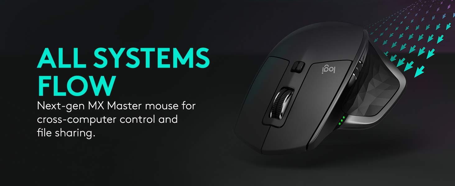 Logitech MX Master 2S Wireless Mouse – Use on Any Surface, Hyper-Fast Scrolling, Ergonomic Sh