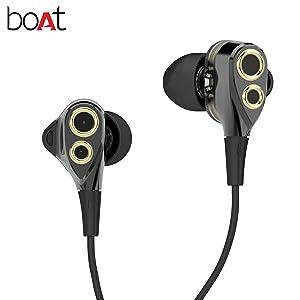 Appease yourself with theboAtNIRVANAA DEUCE Dual Driver earphones