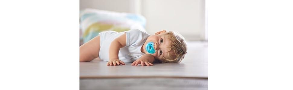 Chicco Phisio Soft - Chupete todo goma de silicona para 0-6 meses transparente