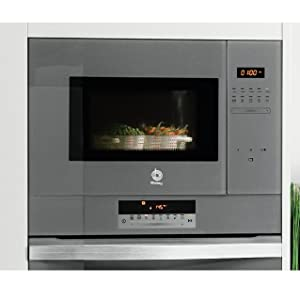 Balay 3CG5172A0 - Microondas integrable / encastre con grill, 800 W / 1000 W , color gris