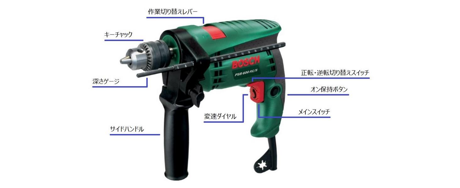 BOSCH(ボッシュ) 振動ドリル PSB600RE/S