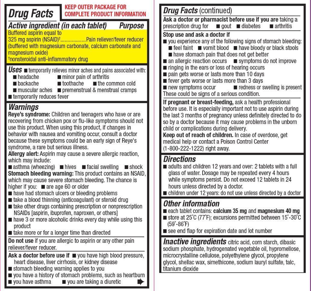Aspirin ingredients list