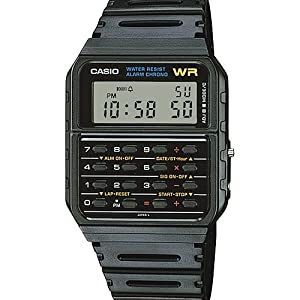 Amazon Com Casio Men S Vintage Ca53w 1 Calculator Watch Casio Watches