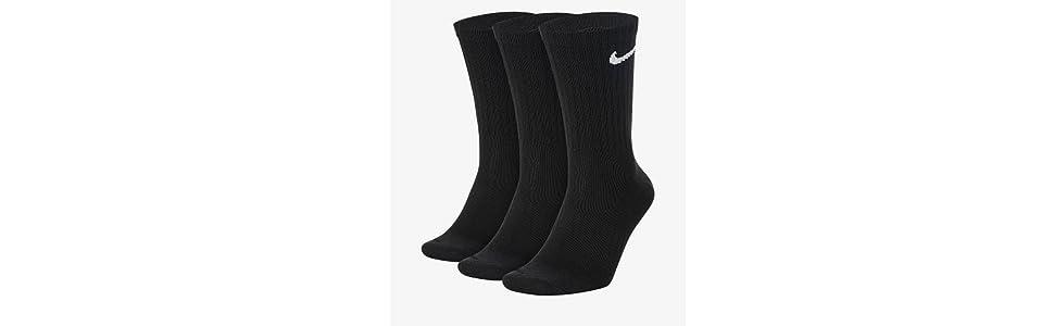 Nike Lightweight Crew, Pack de 3 Calcetines Unisex para Adulto