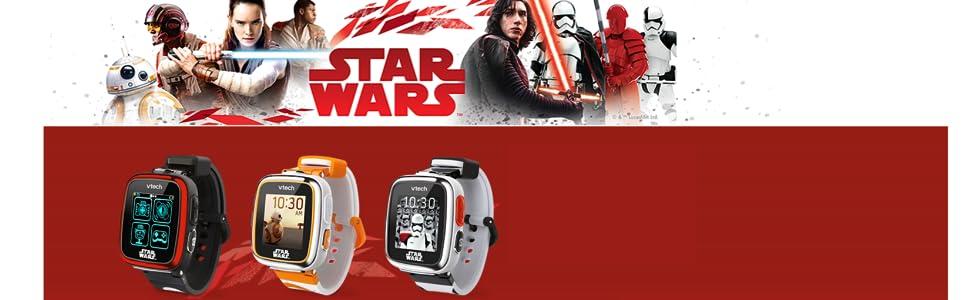 VTech- Star Wars, Reloj Inteligente Smart Watch, Interactivo Infantil con Pantalla táctil (3480-194267)