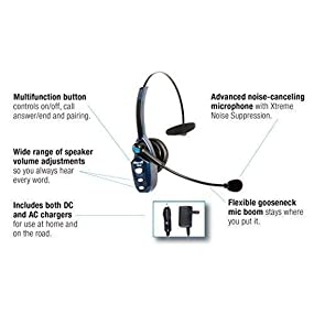 Amazon Com Vxi Blueparrott 202720 B250 Xt 89 Percent Noise Canceling Bluetooth Headset Cell