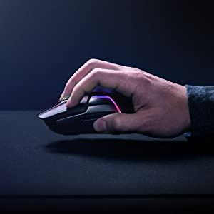 SteelSeries Rival 650, Wireless gaming mouse, optical sensor, RGB lighting