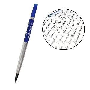 5X Parker ultra fine navigator roller ball rollerball pen blue refill 0.5 mm