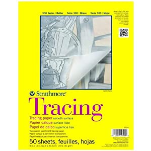 UCreate Tracing Pad 2 Pack 50 Sheets 9 x 12 White