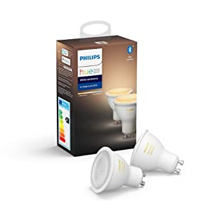 Philips Hue White Ambiance Pack 2 bombillas LED funciona con Alexa y Google Home