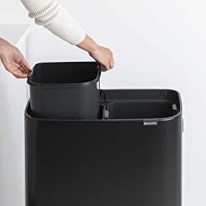 recycling bins; kitchen bins; large bins kitchen; xl large bins; tall bins; trash cans; inner bucket
