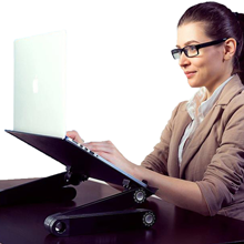 Ergonomic Laptop Riser for Sitting at a Desk