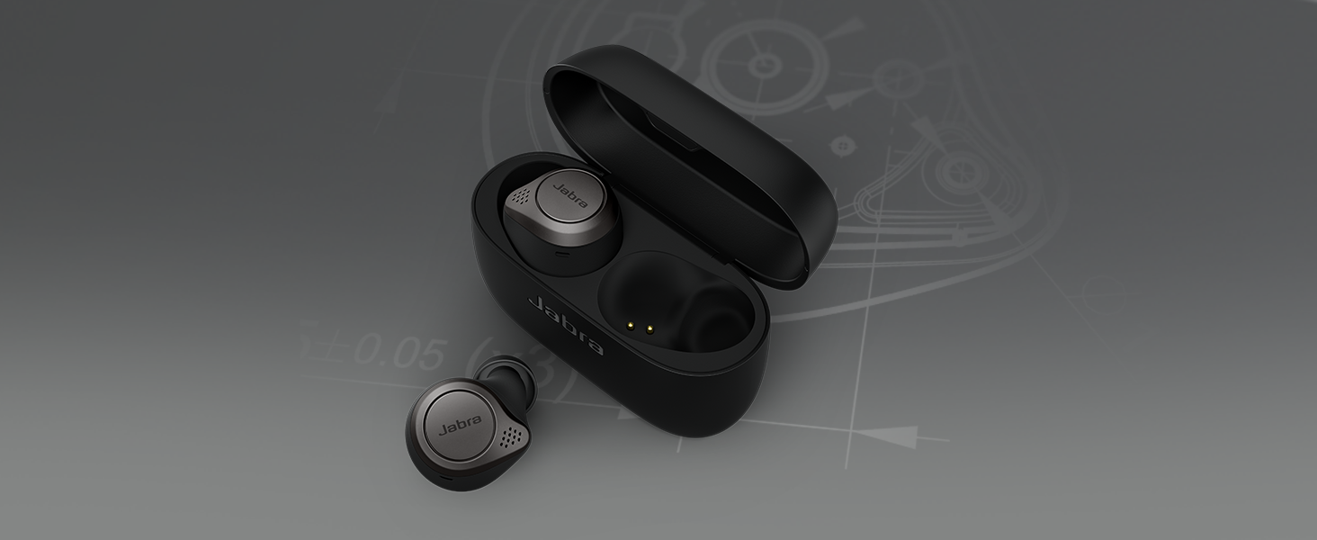 Jabra 完全 ワイヤレス イヤホン Elite 75t チタニウムブラック Alexa対応 bluetooth 5.0 ノイズキャンセリングマイク 防塵防滴 IP55 北欧デザイン 国内正規品