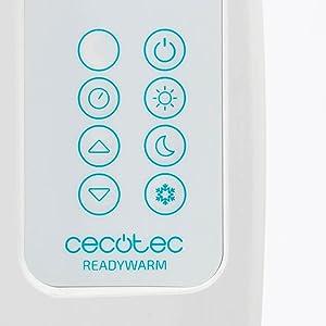 4 Elementos Potencia 600 W Cecotec Emisor t/érmico ReadyWarm 800 Thermal Connected Control por Wi-fi Pantalla LCD