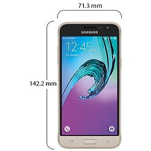 Samsung Galaxy J3 2016 Dual Sim - 8GB, 3G, WiFi, Gold: Amazon com