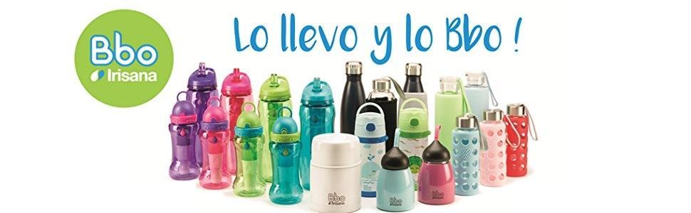 bbo irisana, botellas irisana, botellas ecológicas, botellas reutilizables de vidrio, termo irisana