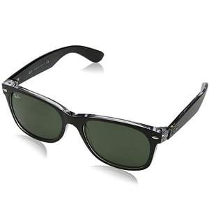 4e01a4395 Amazon.com: Ray-Ban New Wayfarer Sunglasses (RB2132) Black/Green ...