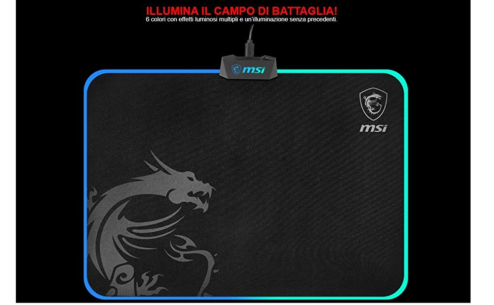 MSI Agility GD60 - Tappetino per Mouse RGB