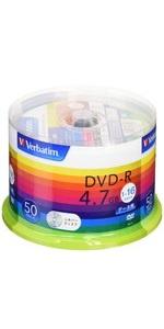 三菱ケミカルメディア Verbatim 1回記録用 DVD-R DHR47J50V1