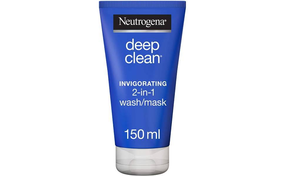 Neutrogena Facial Wash Deep Clean Invigorating 2-in-1 Wash/Mask